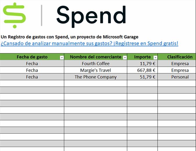 Seguimiento de gastos