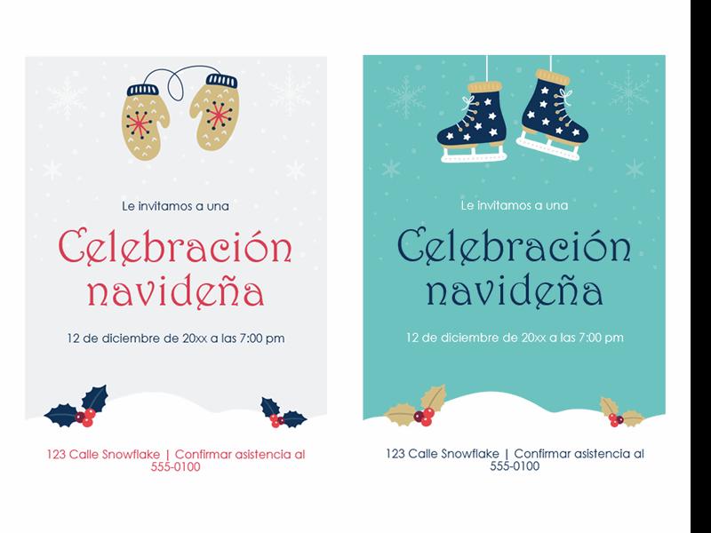 Invitaciones a la fiesta de Navidad