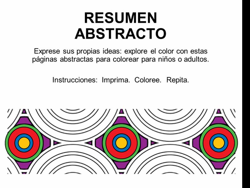 Libro para colorear abstracto