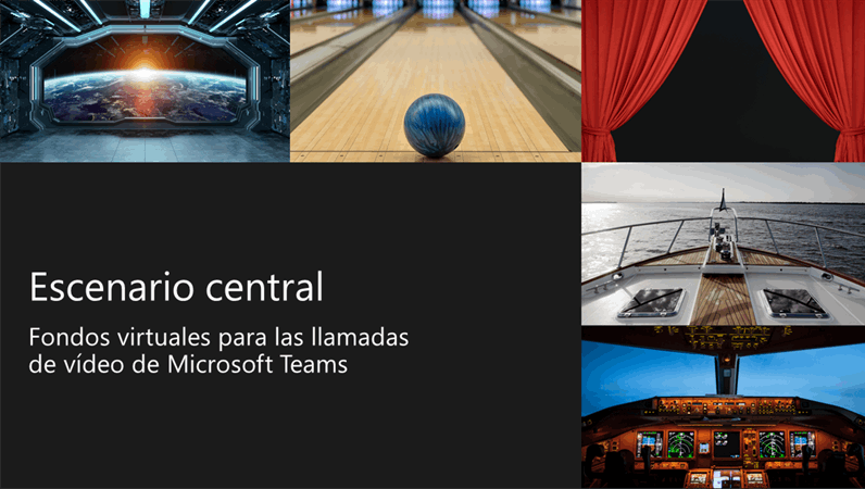 Fondos de Teams de escenario central virtual