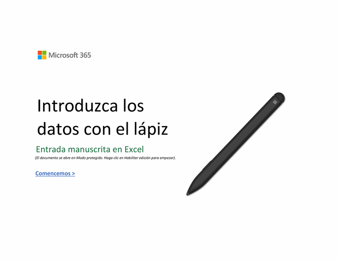 Le damos la bienvenida a Excel
