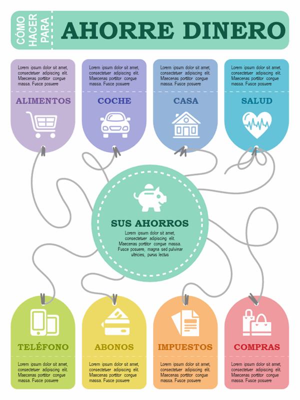 Póster de infografías sobre finanzas