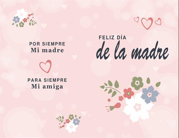 Bonita tarjeta rosa del Día de la Madre.