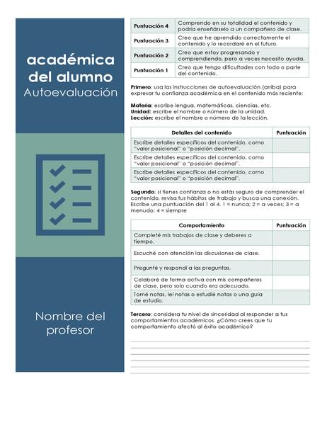 Autoevaluación académica del alumno