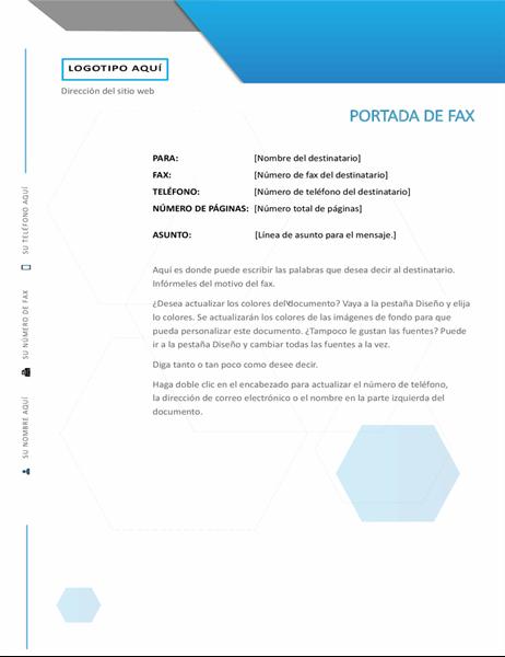 Portada de fax hexagonal