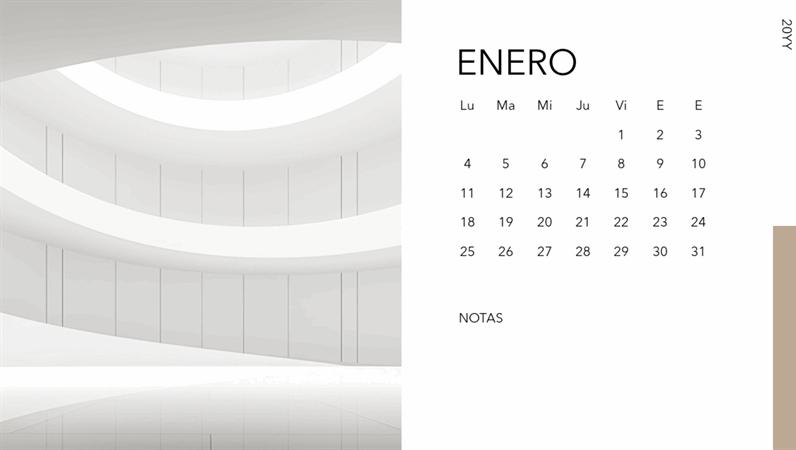 Calendario de fotos de arquitectura