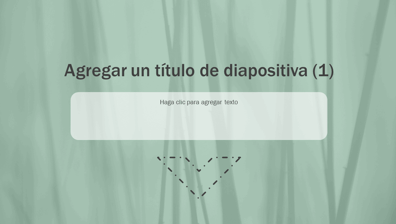 Diapositiva animada con césped