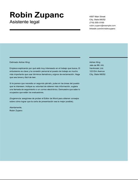 Carta de presentación de impactos