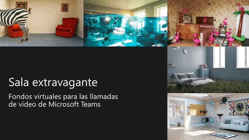 Fondos de Teams de salas extravagantes virtuales