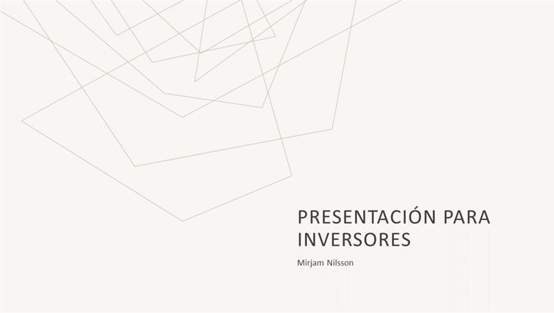 Presentación de ventas minimalista tenue