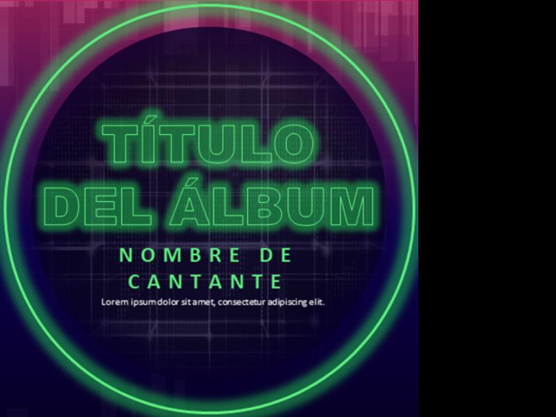 Portada de álbum de música electrónica de baile (EDM)