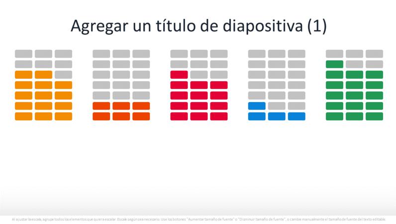 Gráfico de porcentaje de infografía