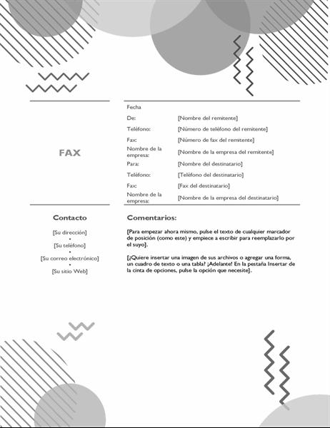 Portada de fax de los ochenta en blanco y negro
