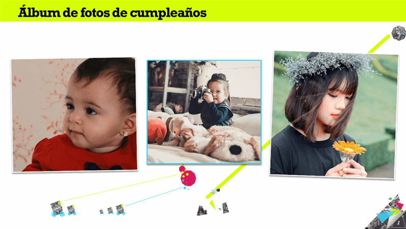 Álbum de fotos de cumpleaños