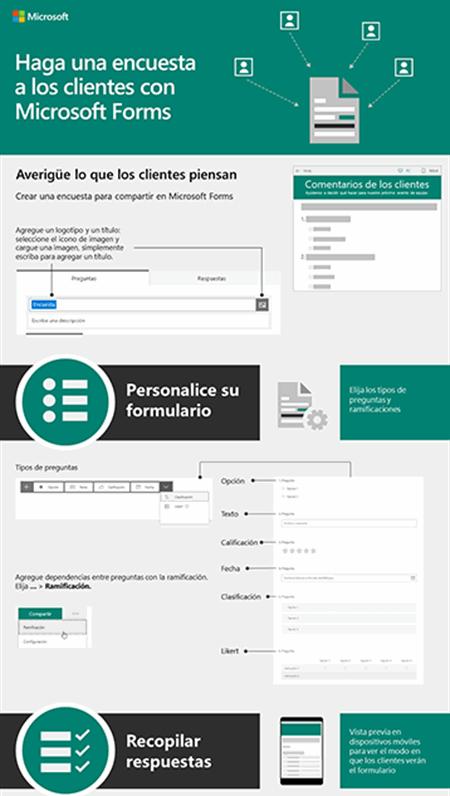 Haga una encuesta a los clientes con Microsoft Forms