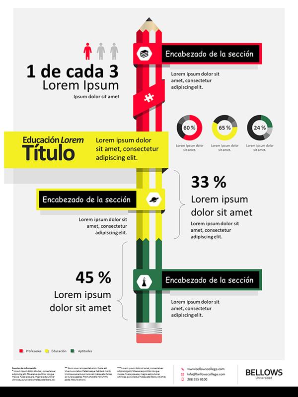 Póster de infografías de educación