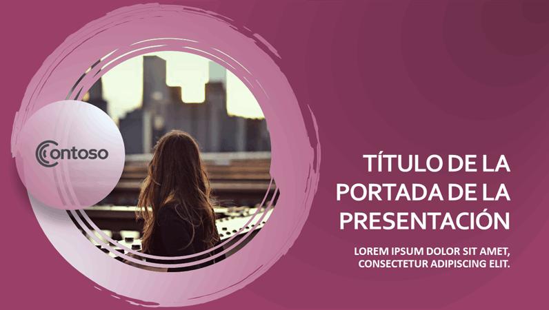 Presentación de diapositivas de conjunto rosa
