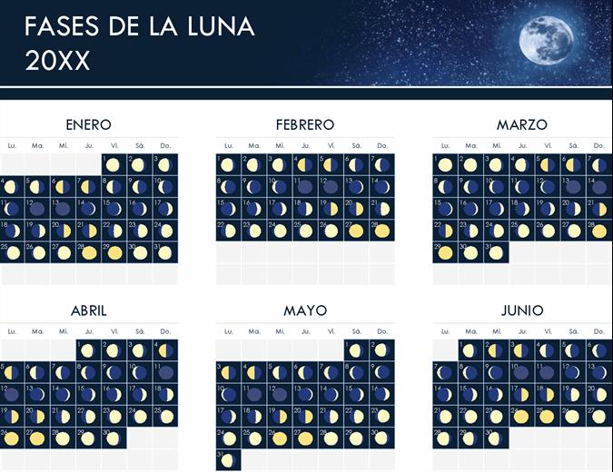 Fases del calendario lunar