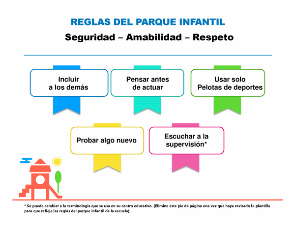 Reglas del parque infantil