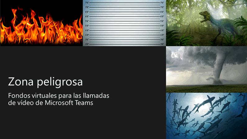 Fondos de Teams de zonas peligrosas virtuales