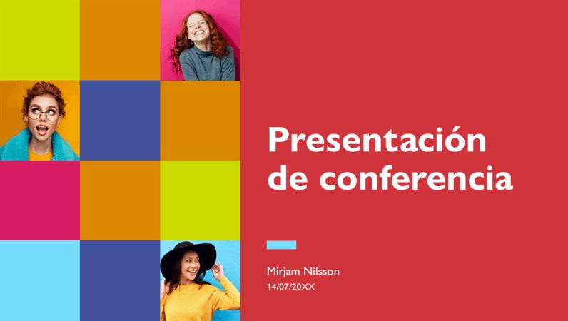 Presentación de conferencia colorida