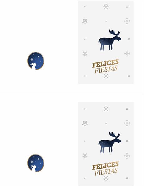 Tarjeta con reno de Navidad