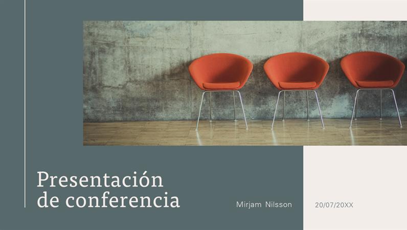 Presentación de conferencia moderna