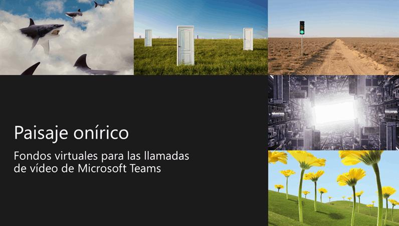 Fondos de Teams de paisajes oníricos virtuales