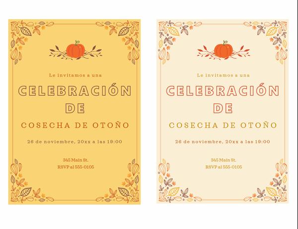 Invitación a fiesta de otoño