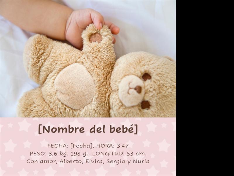 Álbum clásico de fotografías para bebés