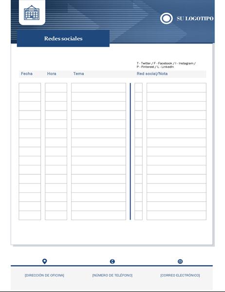 Calendario de contenido de pequeña empresa
