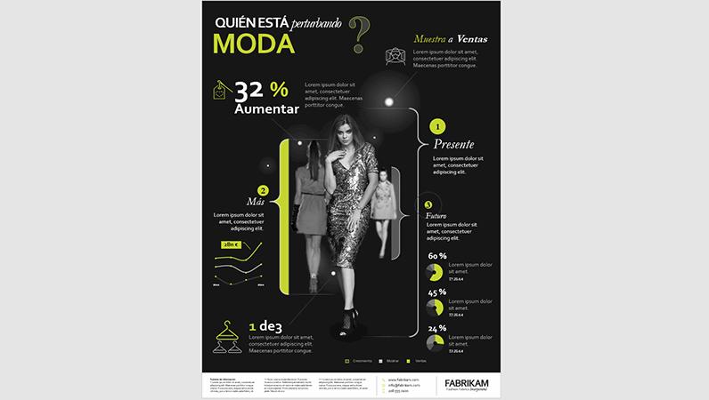 Póster de infografías sobre moda