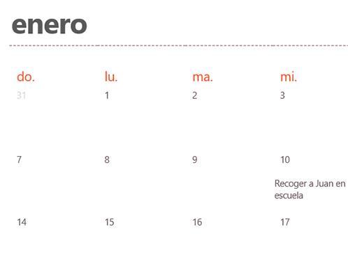Pestañas de calendario permanente (blanco)