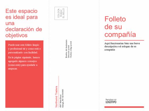 Folleto empresarial médico, tríptico (diseño rojo y blanco)