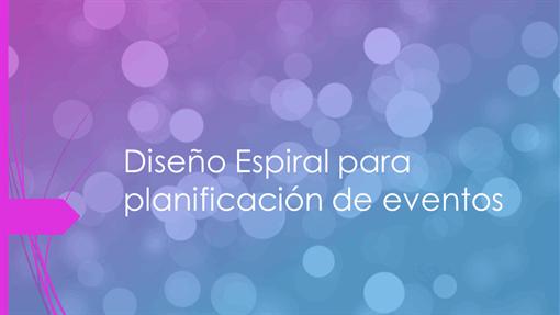Diseño de evento
