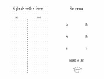 Diario de planificación de comidas