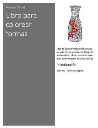 Libro para colorear de formas