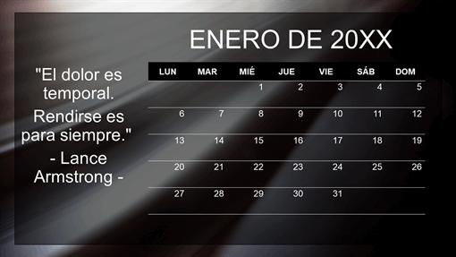 Calendario mensual de citas