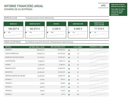 Informe financiero anual