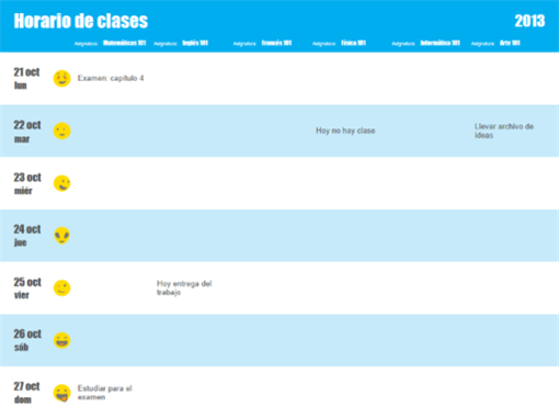 Plan de clase (por asignatura)