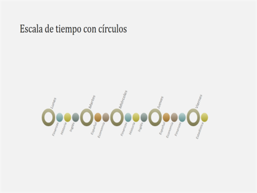 Diapositiva con diagrama de escala de tiempo de eventos (pantalla panorámica)