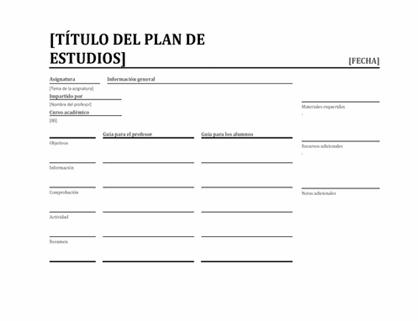 Planificador diario de lecciones