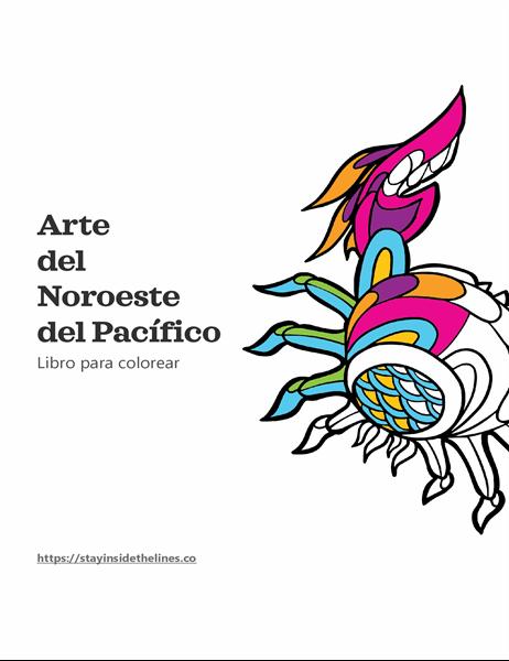 Libro para colorear del arte del Noroeste del Pacífico