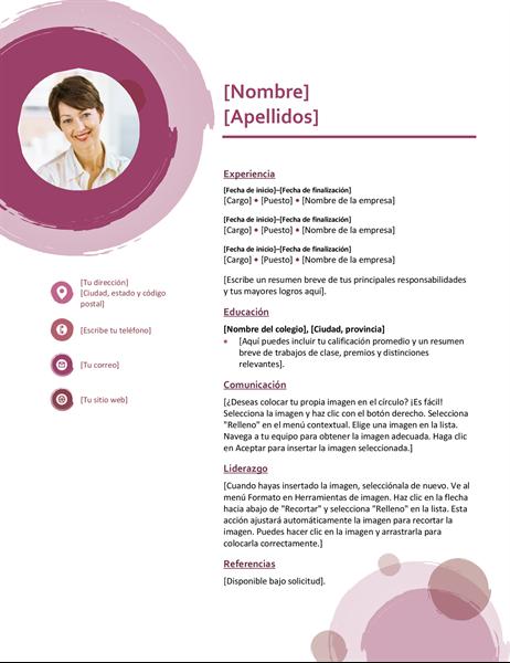 Currículum vítae del conjunto rosa