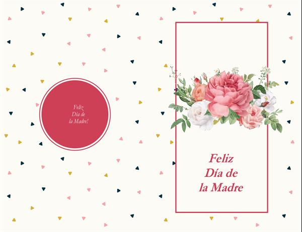 Tarjeta del Día de la madre con diseño de rosas retro
