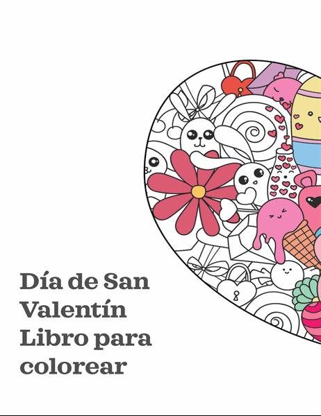 Libro para colorear del Día de San Valentín