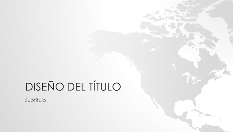 Serie de mapas del mundo, presentación del continente norteamericano (panorámica)
