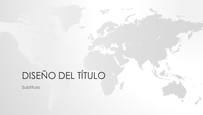 Serie de mapas del mundo, presentación mundial (pantalla panorámica)