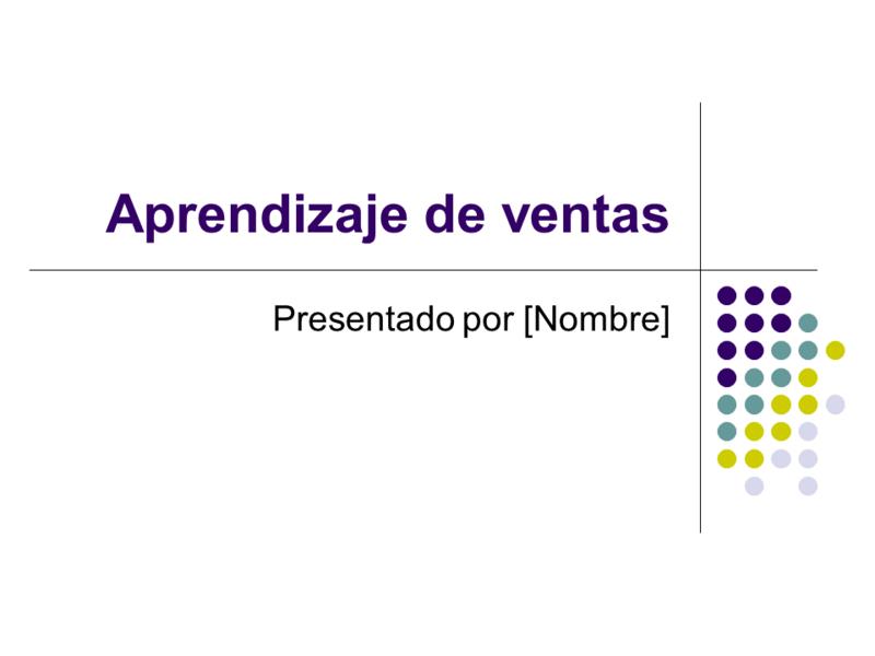 Diapositivas del aprendizaje de ventas