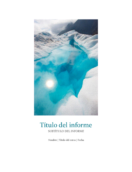 Informe de estudiante con foto de portada